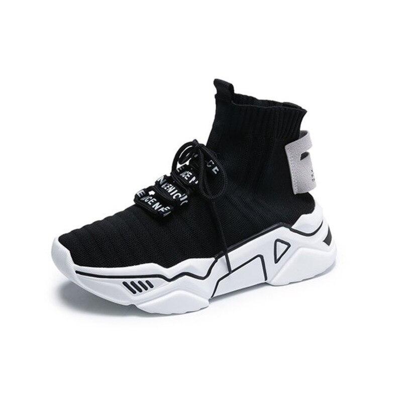 Hot Price #9d46f High Top Platform Chunky Sneakers Women