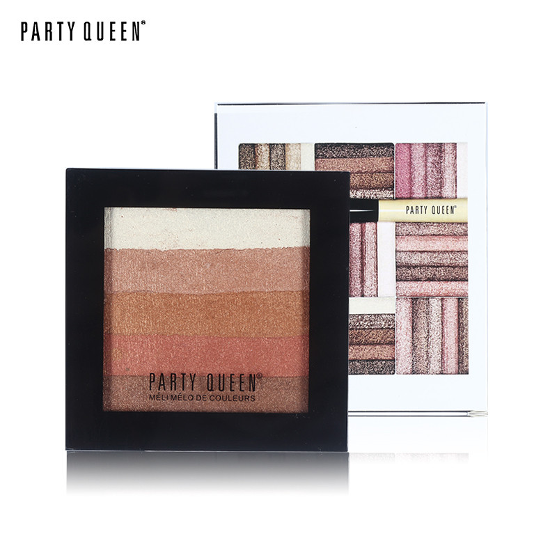 Bronzer Powder Blush and Highlighter Makeup Party Queen Pro Eye shadow Palette set Tanning Powder #01 14