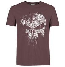 Punisher Skull Summer Casual Fashion Cotton O-Neck Short Sleeves Men's T-shirt