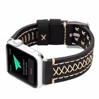 Genuine Leather 38 42mm Watch Band For Apple Watch Series 1 2 3 Strap Belt For