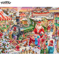 DIY Diamond Painting Cross Stitch Full Diamond Embroidery Christmas Gift Painting Rhinestones Diamond Mosaic Pattern Santa