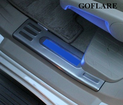 Chromium Styling Auto Replacement Parts Generous Led Door Sill Strip For Toyota Land Cruiser Prado 150 Accessories 2010-2018 2019 Illuminated Sills Guard Scuff Plates Threshold Bright In Colour