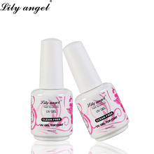 Lily angel Newest Natural Resin 15ml UV Gel LED Needed Base Coat Non-Cleansing Top Nail Polish Varnish