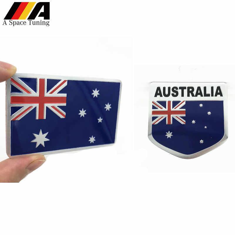تصفيف السيارة ثلاثية الأبعاد أستراليا العلم شعار شارة ملصق دراجة نارية مائي اكسسوارات السيارات Ford فورد أوبل فوكسهول بويك