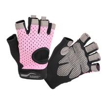 цена на Men Women Summer Gym Half Finger Sports Fitness Exercise Training Wrist Gloves Anti-slip Wear Resistance Weightlifting Gloves