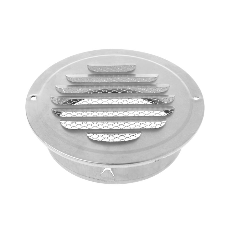1PC Stainless Steel Exterior Wall Air Vent Grille Round Ducting Ventilation Grilles