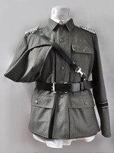 WWII correa cruzada de cuero de oficial del ejército alemán, cinturón con hebilla, talla M L XL