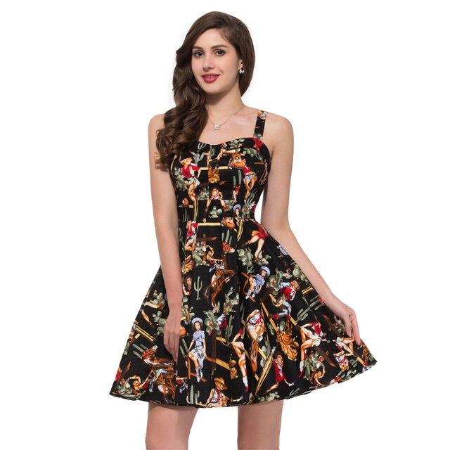 2017 Abbigliamento Donna Retro 50 s 60 s Stile Rockabilly Abiti Vintage  Partito Delle Signore Abiti d2121bff555