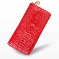 Genuine Leather Wallets Women Luxury Brand Alligator Fashion Zipper Women S Wallets And Purses Designer Female