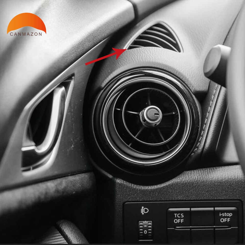 For Mazda CX-3 CX3 2015 2016 2017 2018 Car Interior AC Decorative Frame Moulding Air Condition Cover Trim Outlet Vent Styling for mazda cx 5 cx5 2nd gen 2017 2018 interior custom car styling waterproof full set trunk cargo liner mats tray protector