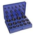 Комплект уплотнительных колец NBR черного цвета, 30 разных размеров, резиновое уплотнительное кольцо, набор с синим пластиковым чехлом, 382 шт.
