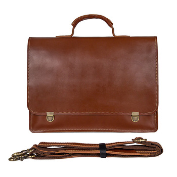 14 Laptop Briefcase Bags Cow Leather Men Brown Business Travel Vintage Casual Fashion File Handbags Genuine Leather Briefcase 2018 genuine cow leather men