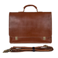 14 Laptop Briefcase Bags Cow Leather Men Brown Business Travel Vintage Casual Fashion File Handbags Genuine Leather Briefcase