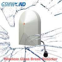 433 mhz 무선 유리 깨진 감지기  dc 12 v 작업  진동 감지기  홈 도난 wifi/pstn/gsm 경보 센서 경보