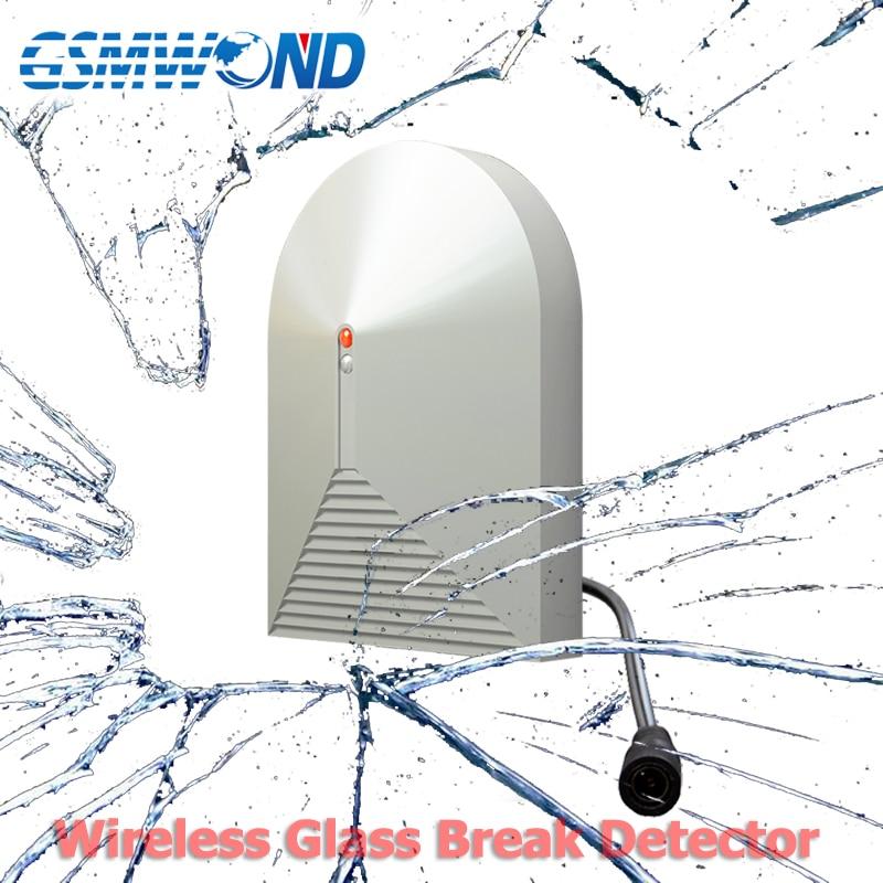 433MHz Wireless Glass Broken Detector, DC 12V Work, Vibration Detector, For Home Burglar Wifi / PSTN / GSM Alarm Sensor Alarms