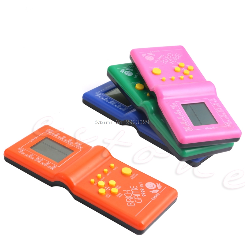 New Retro LCD Game Electronic Vintage Tetris Brick Handheld Arcade Pocket Toys -B116