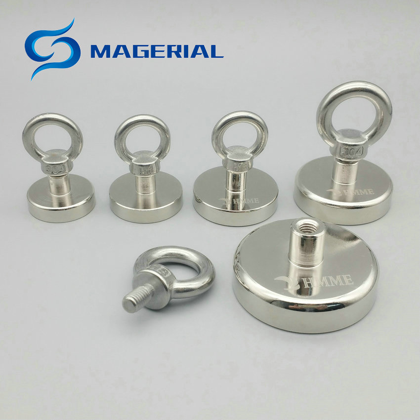 120KG Pulling Pot Magnet Diameter 16-60 mm Lifting Magnet Lathed Clamping A3 Steel Cup Neodymium Fishing Magnet Deep Sea Salvage 1 pack mounting magnet diameter 12 mm clamping pot magnet with steel hook neodymium lifting magnet strong magnet lathed cup