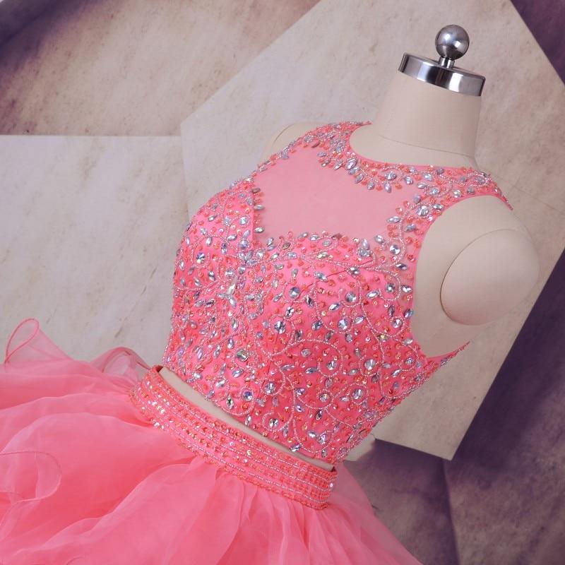 Peach Quinceanera Dresses 2019 LORIE Vestidos De 15 Anos Ruffles - Gaun acara khas - Foto 2