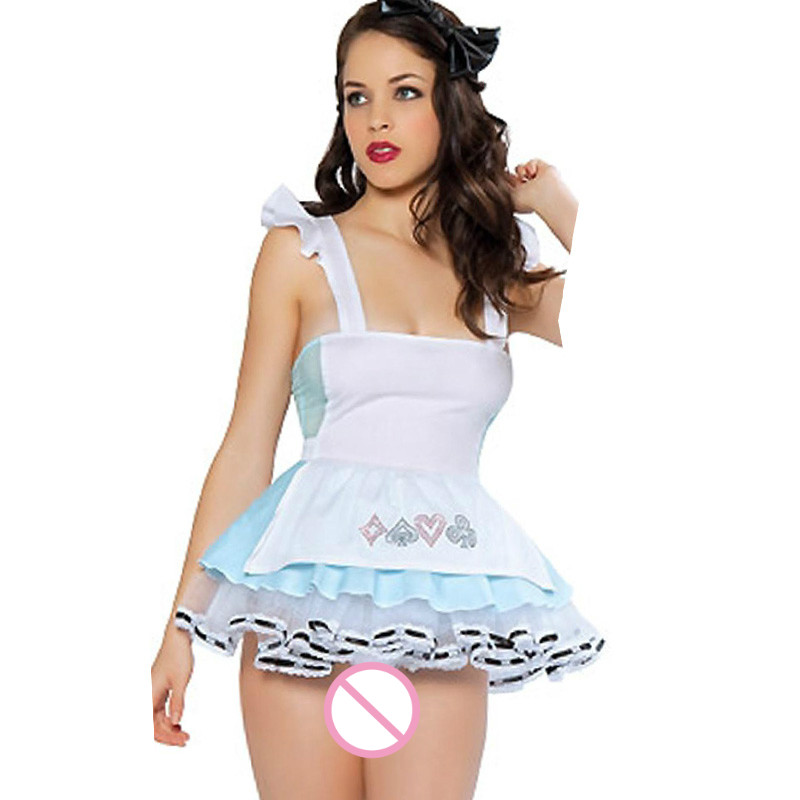 2017 Sexy Women Maid Costume Adult French Maid Fancy Dress Servant Lingerie Cosplay Uniform Halloween Costume W208174