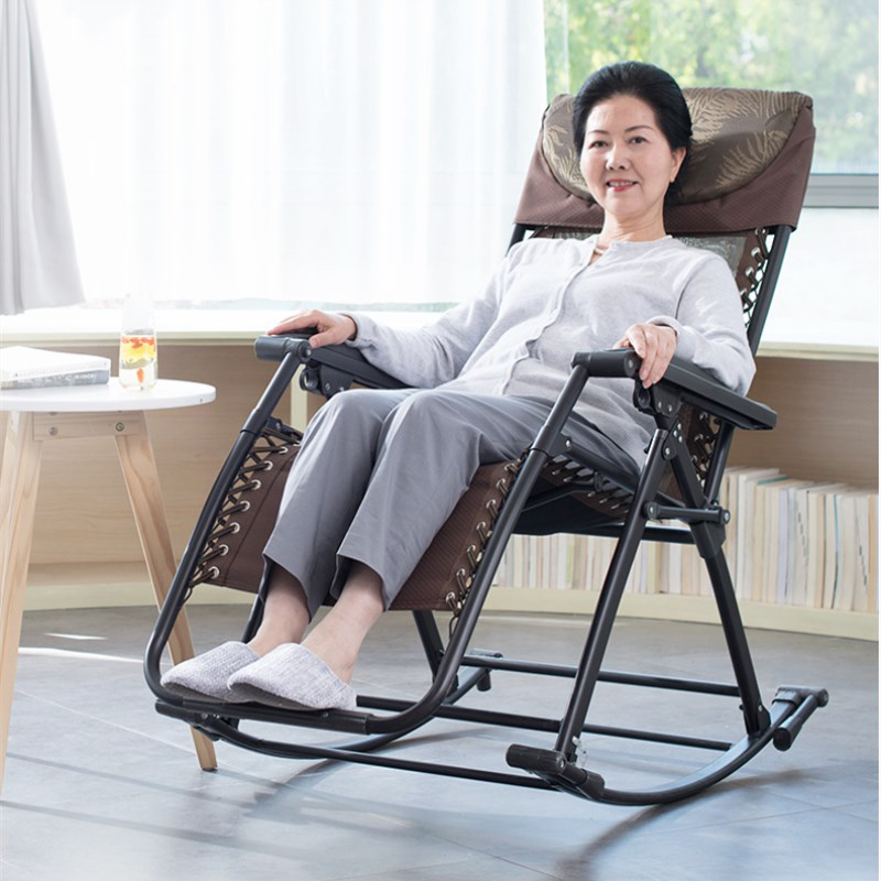 A1senior Rocking Chair High Back Armchair With Headrest