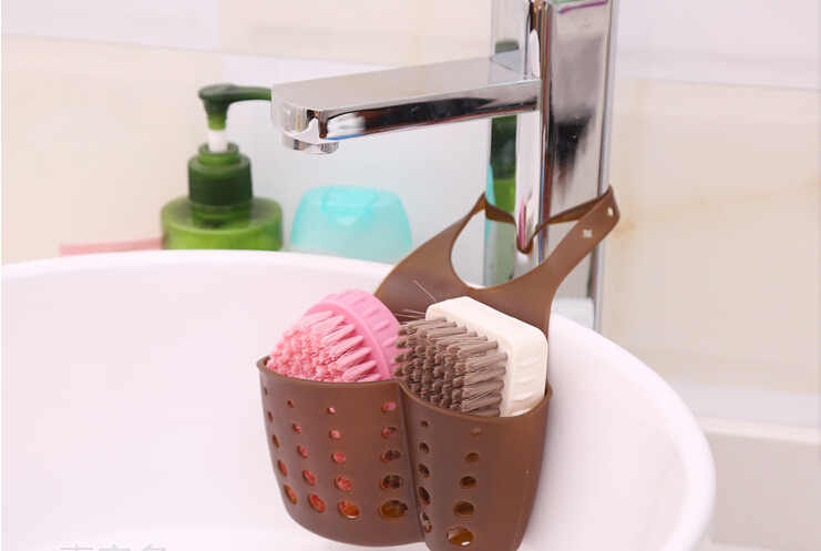 Bathroom Soap Hanging Shelving water Faucet laundry basket Kitchen Gadgets tableware Sink rack storage basket 1PCS