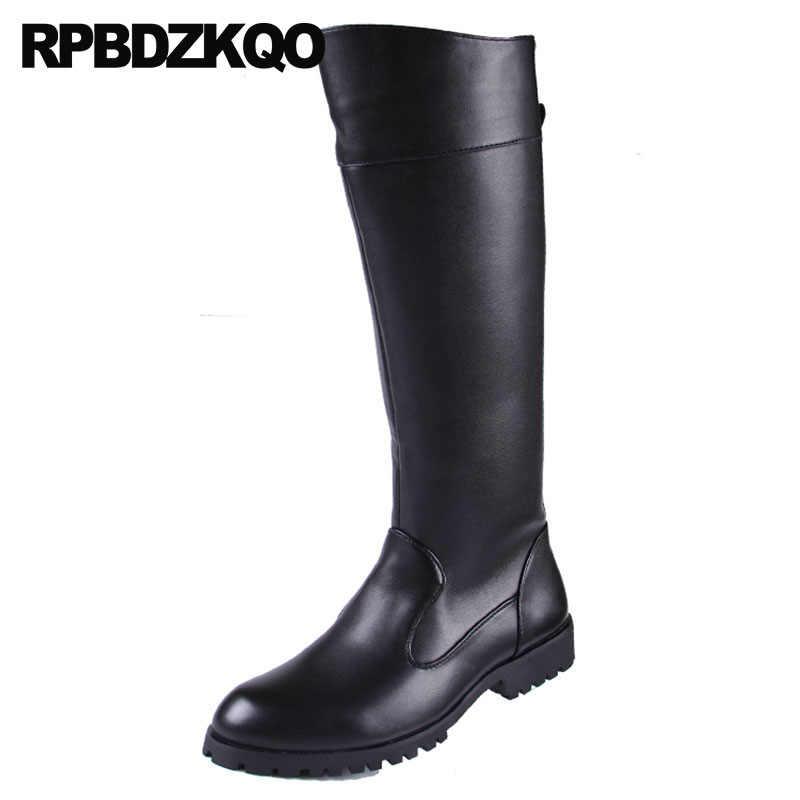 Plus Size Winter Zipper Shoes 2018 Designer Black Runway Y6ybvgf7