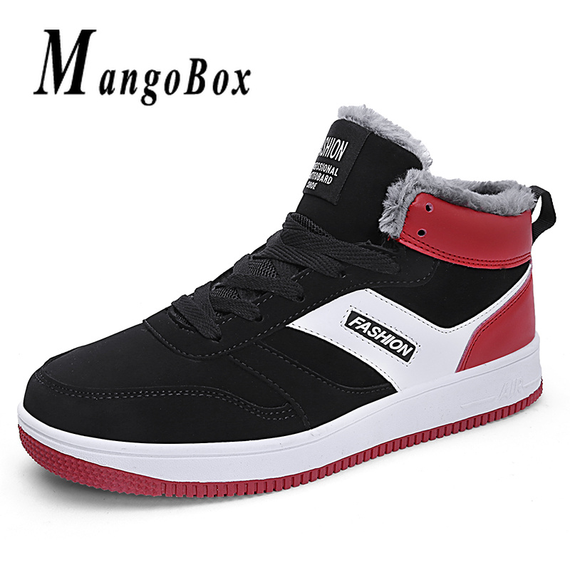 Different Colors Running Men Shoes Winter Inside Fur Running Sneakers Boy High Top Mens Designer Shoes Rubber Male Walking Shoes