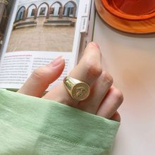 Silvology 925 Sterling Silver Animal Skeleton Rings Gold Glossy Wild Fashionable Korea for Women 2019 New Festival Jewelry