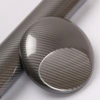 Super Grey Glossy 5D Carbon Fibre Vinyl Wrap Car Wrapping Film Shiny Carbon 5D Carbon
