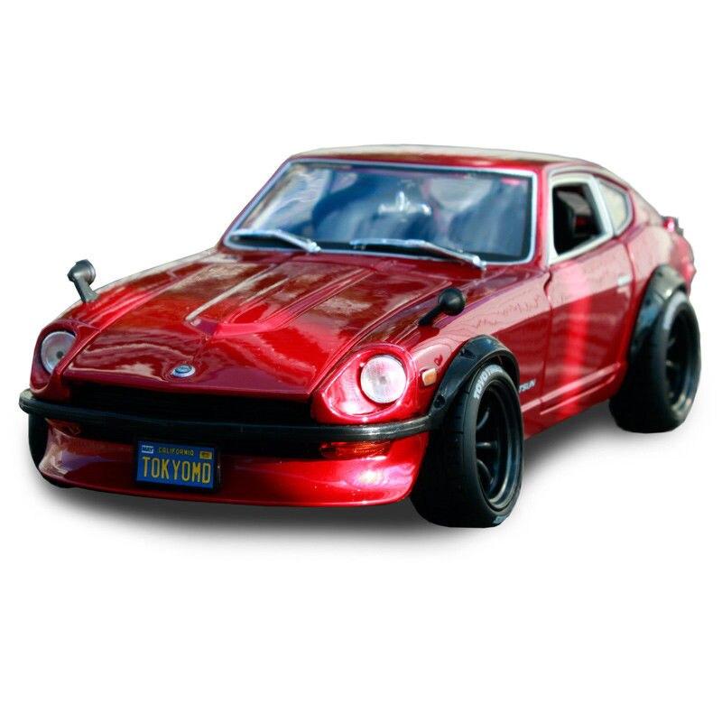 Maisto Design 1:18 1971 Datsun 240Z Tokyo Mod modèle moulé sous pression rouge sport voiture de course en boîte