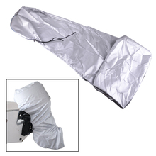 beler Waterproof Grey Oxford Fabric Outboard Full Body Engine Cover Protective Bag For 40-50HP Boat Motor
