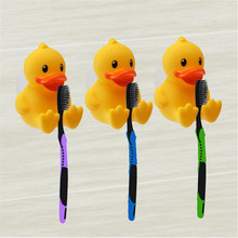 Accesorios de baño cepillo de dientes titular de dibujos animados pequeño  baño pato amarillo familia Niños Accesorios fuerte lec. 8d4c5e6ae081