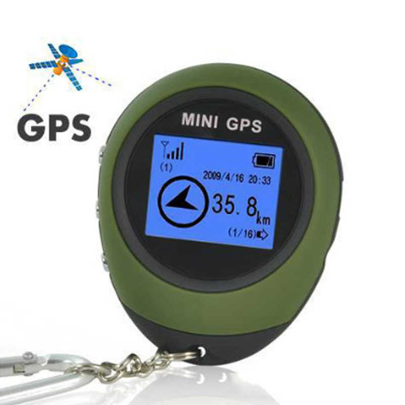 Mini GPS Tracker Auto Parts Travel Receiver Handheld Location Finder Outdoor Practical USB Rechargeable with Electronic Compass
