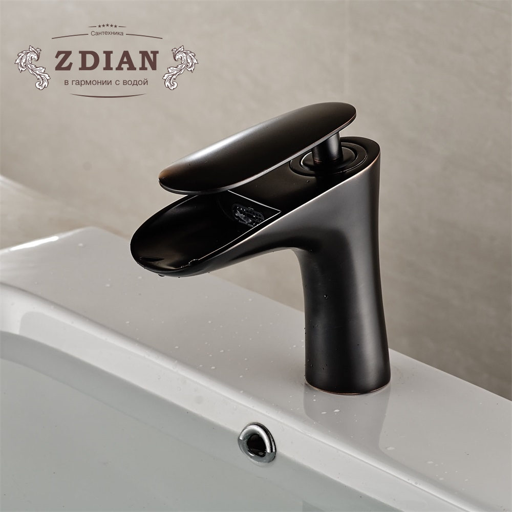 Black Basin Faucets Modern Bathroom Mixer Tap Brass Washbasin Faucet ...