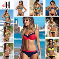 DA HAI Sexy Bikini Women Swimwear 2017 New Summer Bikini Set Multicolor Push Swimwear Female Plus