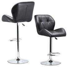 Горячий GCZW-набор из 2 регулируемых вращающихся барных табуретов из искусственной кожи гидравлический подъемник обеденный стул