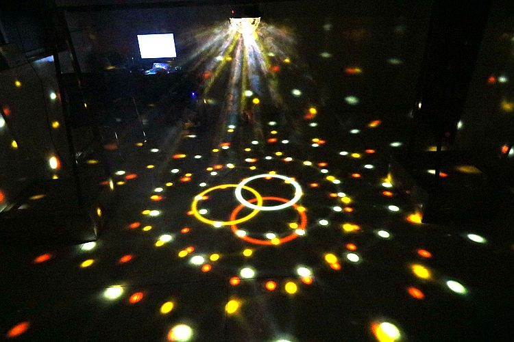 9 Color LED Crystal Ball Flashing Stage Lights With Remote MP3