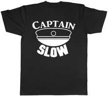 Captain Slow Funny Mens Womens Ladies Unisex T-Shirt Men'S T-Shirts Summer Style Fashion Swag Men T Shirts. printio slow death t shirt