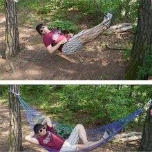 200*80CM Portable Tree Hanging Hammock Garden Nylon Swing Chair Outdoor Camping Meshy Hammock