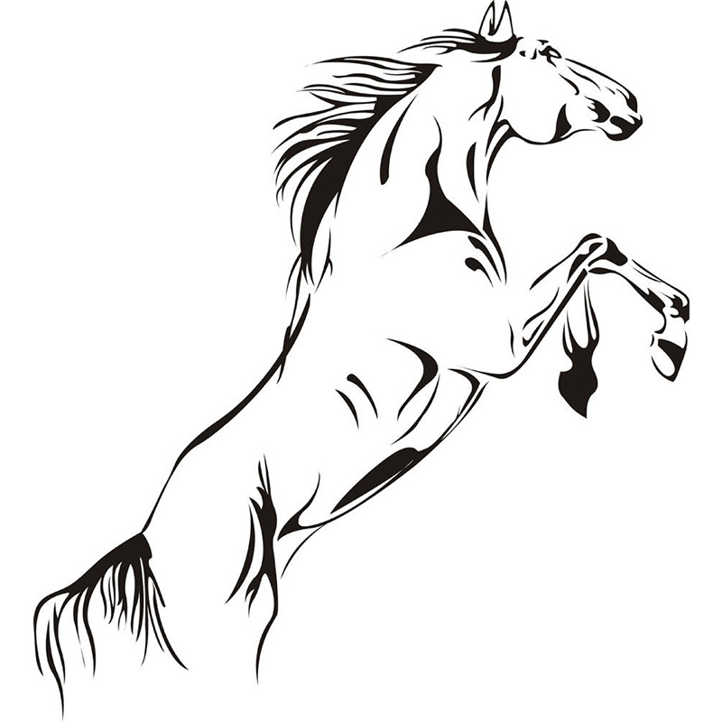 Jumping Horse Wall Art Stickers Vinyl Decal Stylish Home
