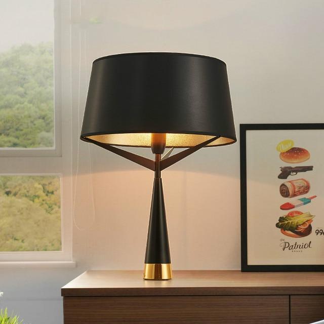 Die moderne dekoration lampe, schmiedeeisen tuchkunst E27 tischlampe ...