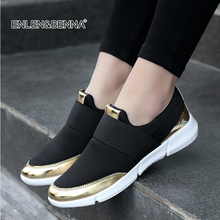 купить 2018 Spring/Autumn Shoes Women Casual Female Platform Shoes Sneakers Slip On Women Flat Tenis Feminino Lady Shoes Solid Loafers дешево