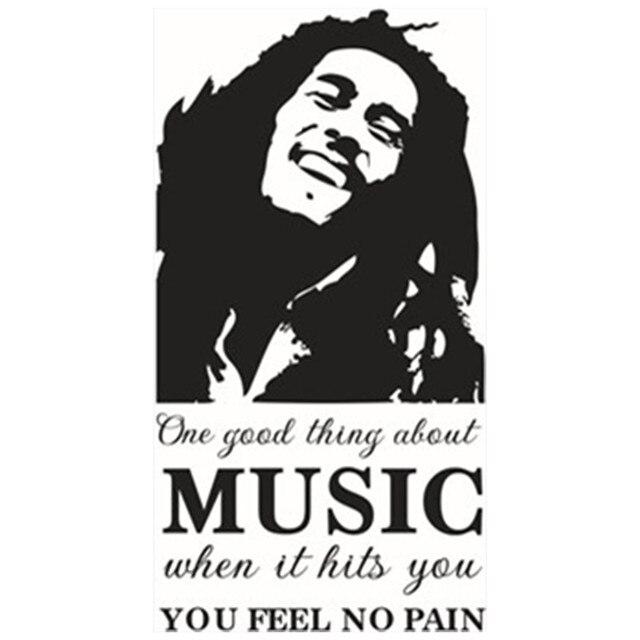 Free Shipping Bob Marley Emoji Wall Stickers About Music English