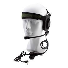 Tactical Bowman Elite II Auriculares de Radio del auricular con Estilo U94 PTT para Kenwood Walkie Talkie de Radio Portátil de 2 Pines