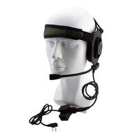 Taktyczne Bowman Elite II Zestaw Słuchawkowy PTT Słuchawka Z U94 Stylu Dla Kenwood Radio Przenośne Radio Walkie Talkie 2 Pin