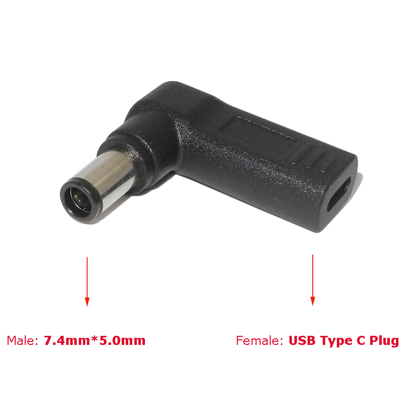 Dc Power Adapter Connector 7.4x5.0mm Male Plug to USB Type C Female Jack Converter for Hp Dell Laptop Notebook Computer Charger Pakistan