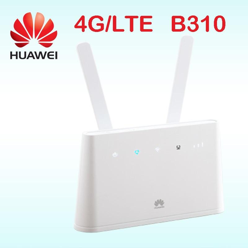 Huawei routeur 4g rj45 b310as-852 huawei lte routeur b310 lan hotspot sim carte avec antenne de voiture portable wifi 4g b310s-22 b310s