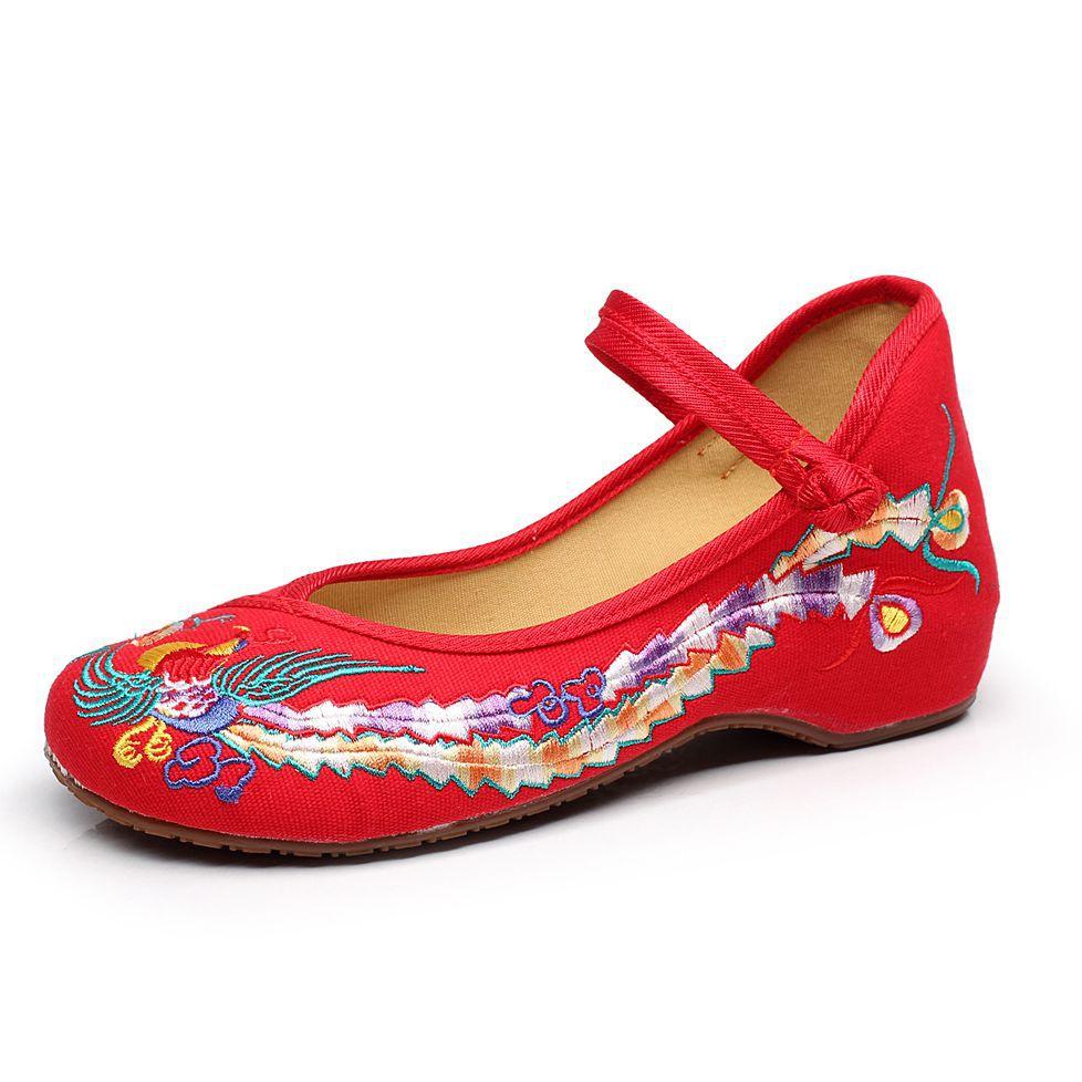 Viejo 41 De 4 Del Mary Ballet 2 Lona Pekín Plana 3 1 Paño Zapatos Jane Más Tamaño Mujer Pisos Bordado Chino Mujeres Ocasionales Phoenix qFwYYP