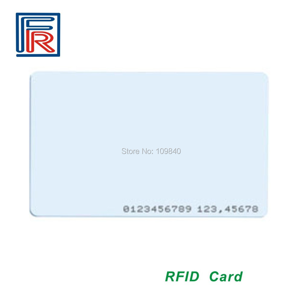 125 кГц RFID Бесконтактный ID карты для контроля доступа и времени использования часов, карта RFID EM