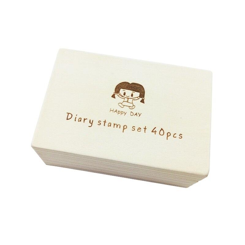 de madeira adorável diário padrão de borracha